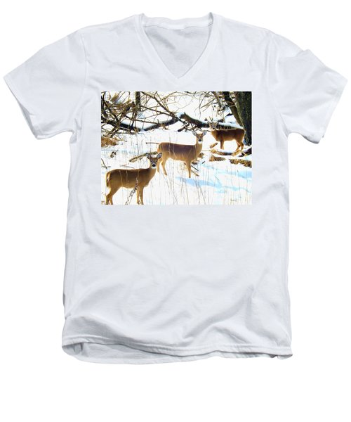 Does In The Snow Men's V-Neck T-Shirt