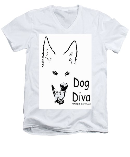Dog Diva Men's V-Neck T-Shirt