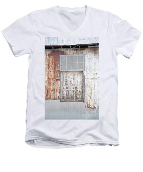 Men's V-Neck T-Shirt featuring the photograph Door 2 by Minnie Lippiatt