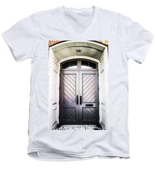 Doorway At Morris Avenue Men's V-Neck T-Shirt by Shelby  Young