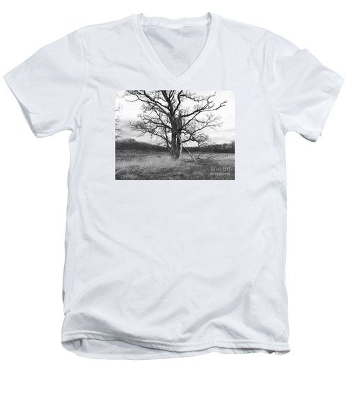 Dormant Beauty Bw Men's V-Neck T-Shirt
