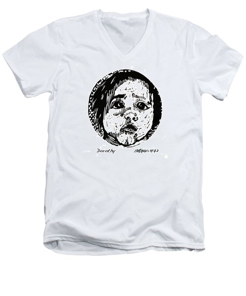 Men's V-Neck T-Shirt featuring the relief Dorothy by Seth Weaver