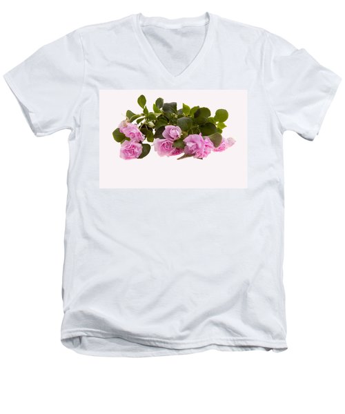 Double Impatiens Men's V-Neck T-Shirt