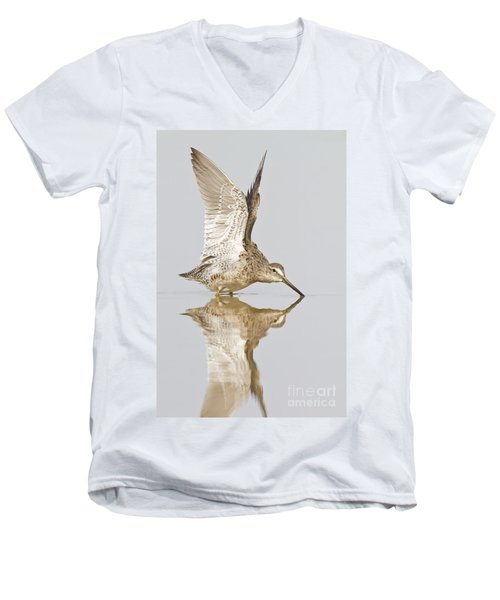 Dowitcher Wing Stretch Men's V-Neck T-Shirt
