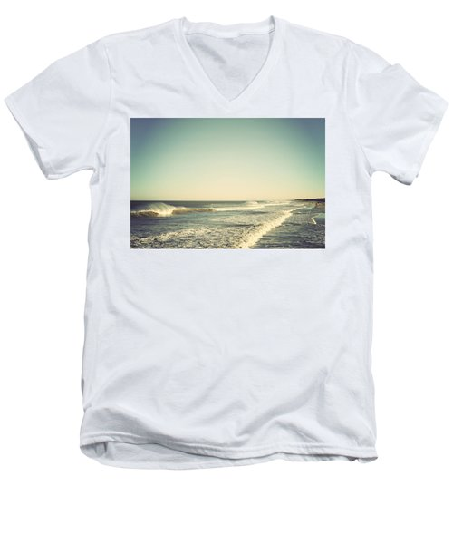 Down The Shore - Seaside Heights Jersey Shore Vintage Men's V-Neck T-Shirt by Terry DeLuco