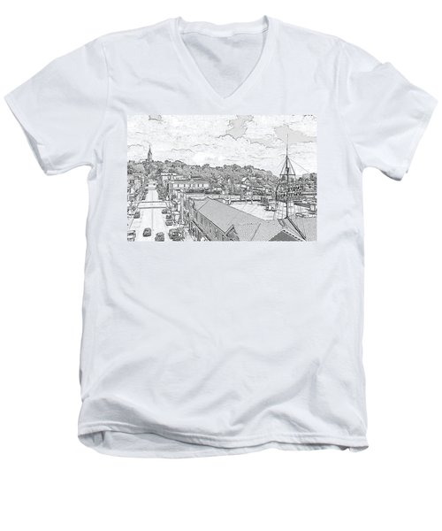 Downtown Port Washington Men's V-Neck T-Shirt