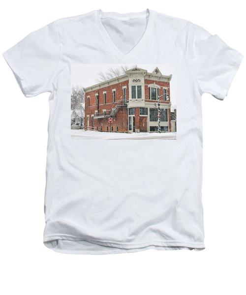 Downtown Whitehouse  7031 Men's V-Neck T-Shirt by Jack Schultz