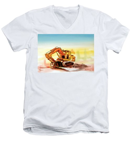 Dozer October Men's V-Neck T-Shirt by Kip DeVore