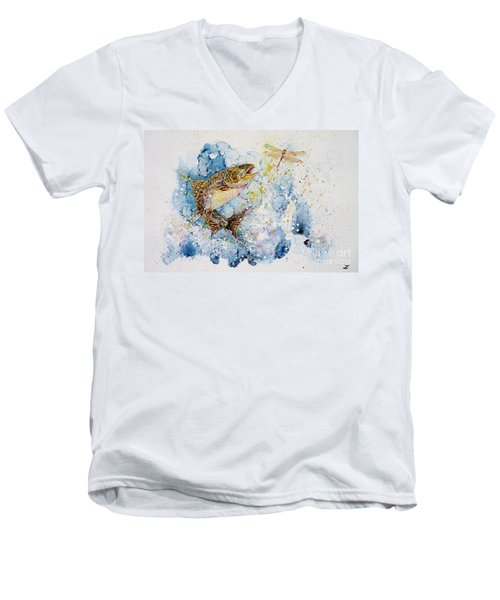 Dragonfly Hunter Men's V-Neck T-Shirt