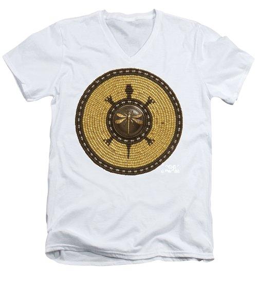 Dragonfly Turtle Men's V-Neck T-Shirt