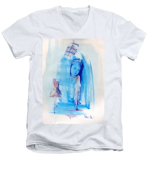Dreaming Of Pisa Men's V-Neck T-Shirt by Laurie L