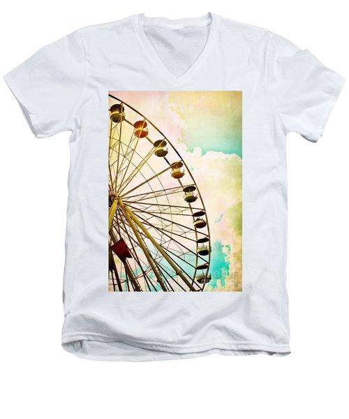 Dreaming Of Summer - Ferris Wheel Men's V-Neck T-Shirt