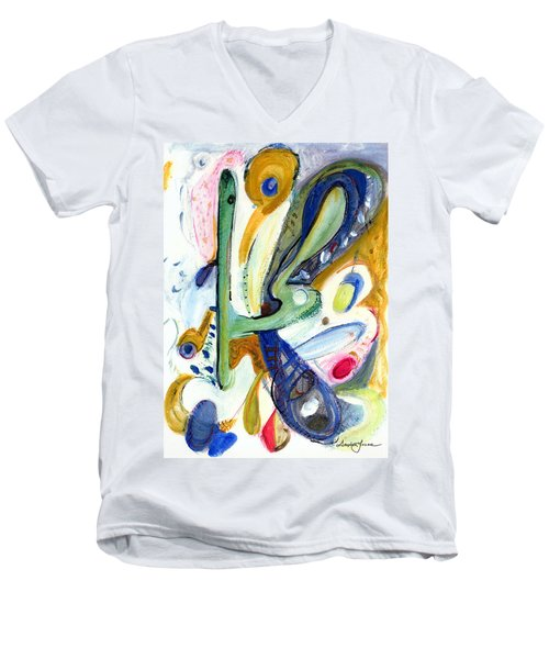 Men's V-Neck T-Shirt featuring the painting Dreams by Stephen Lucas