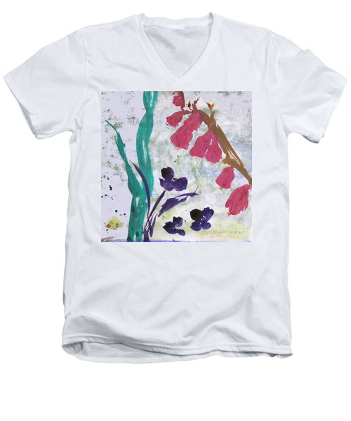 Dreamy Day Flowers Men's V-Neck T-Shirt