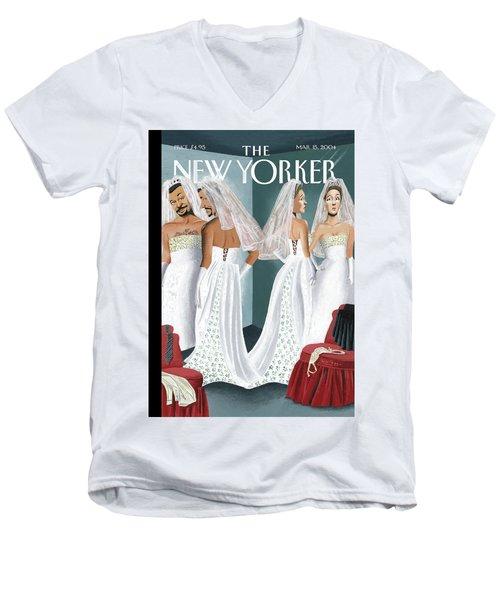 Dress Reversal Men's V-Neck T-Shirt