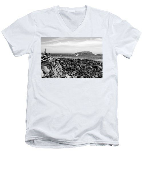 Driftwood And Harbor Men's V-Neck T-Shirt