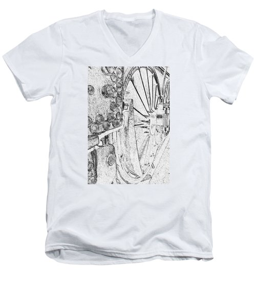 Drive Wheels Dm  Men's V-Neck T-Shirt