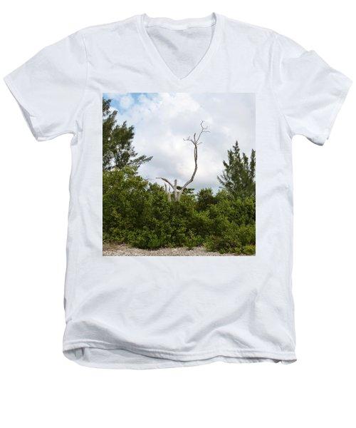 Men's V-Neck T-Shirt featuring the photograph Druid Dance by Amar Sheow