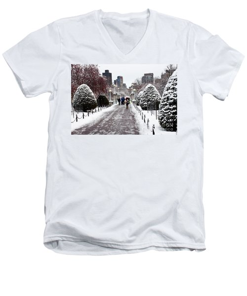 Duck Pond Bridge Men's V-Neck T-Shirt