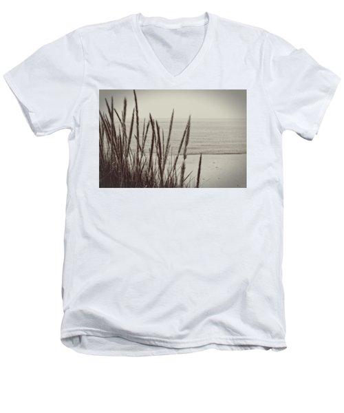 Dune Grass In Early Spring Men's V-Neck T-Shirt