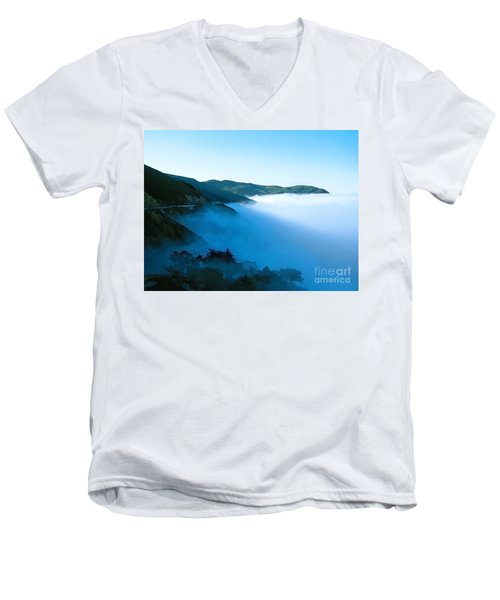 Early Morning Coastline Men's V-Neck T-Shirt