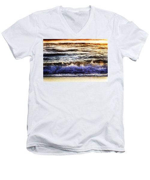 Early Morning Frothy Waves Men's V-Neck T-Shirt