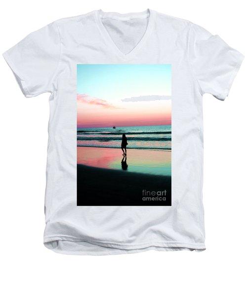 Early Morning Stroll Men's V-Neck T-Shirt by Dan Stone