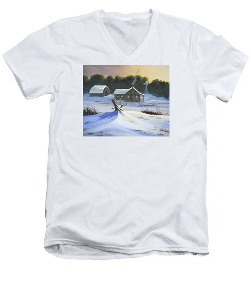 Early Snow Men's V-Neck T-Shirt by Jack Malloch