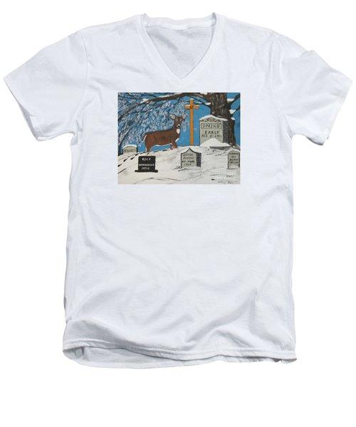 Early Spring Men's V-Neck T-Shirt by Jeffrey Koss