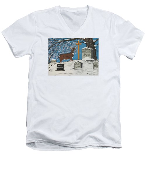 Early Spring Men's V-Neck T-Shirt