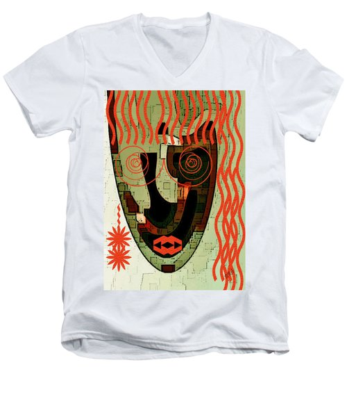 Earthy Woman Men's V-Neck T-Shirt