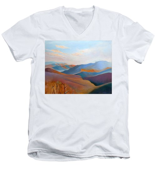 East Fall Blue Ridge No.3 Men's V-Neck T-Shirt