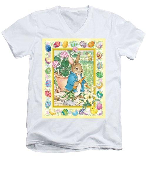 Easter Bunny Men's V-Neck T-Shirt