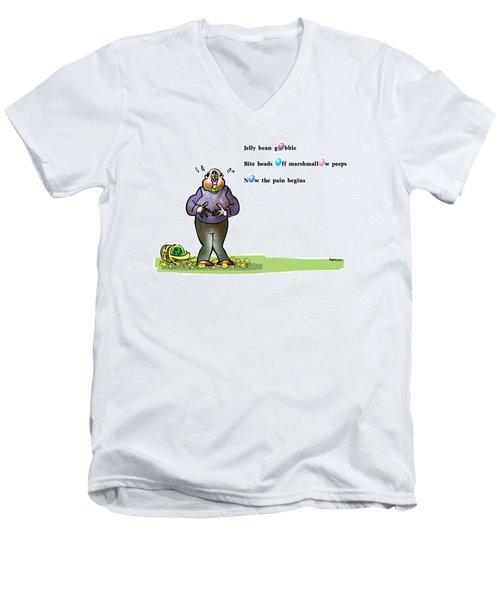 Easter Haiku Men's V-Neck T-Shirt