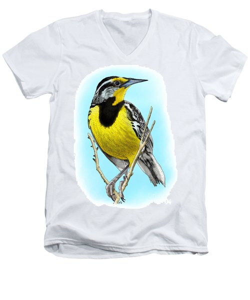 Eastern Meadowlark Men's V-Neck T-Shirt