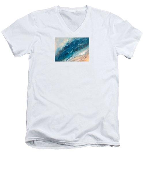 Ebb And Flow Men's V-Neck T-Shirt by Valerie Travers