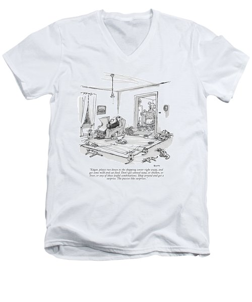 Edgar, Please Run Down To The Shopping Center Men's V-Neck T-Shirt