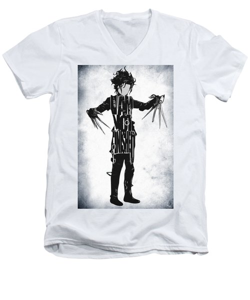 Edward Scissorhands - Johnny Depp Men's V-Neck T-Shirt