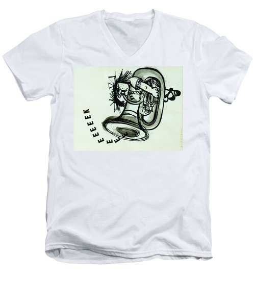 Eeeeeeek! Ink On Paper Men's V-Neck T-Shirt