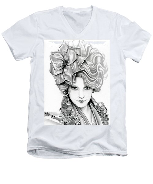 Effie Trinket - The Hunger Games Men's V-Neck T-Shirt by Fred Larucci