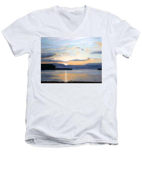 Eileen's Sunset Men's V-Neck T-Shirt