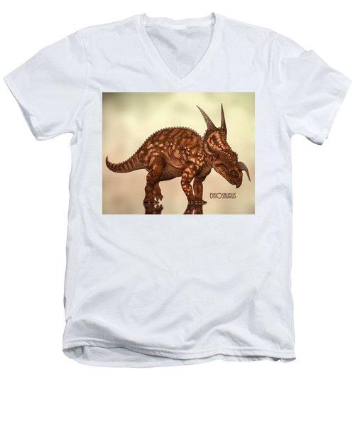 Einiosaurus Men's V-Neck T-Shirt by Bob Orsillo