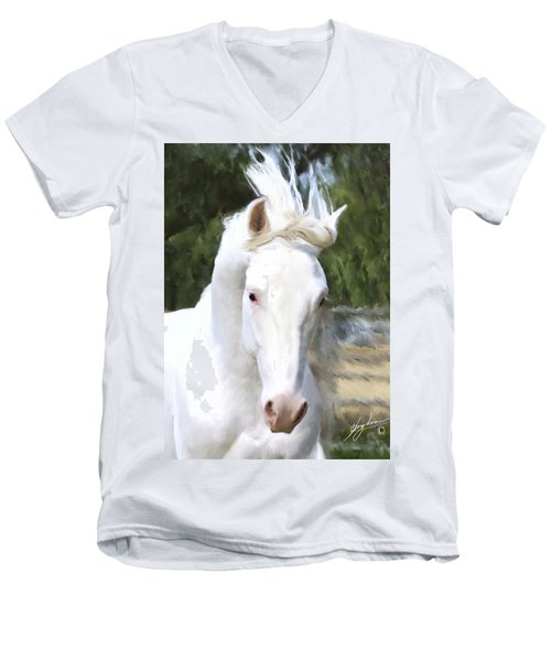 El Padrone Men's V-Neck T-Shirt by Melinda Hughes-Berland