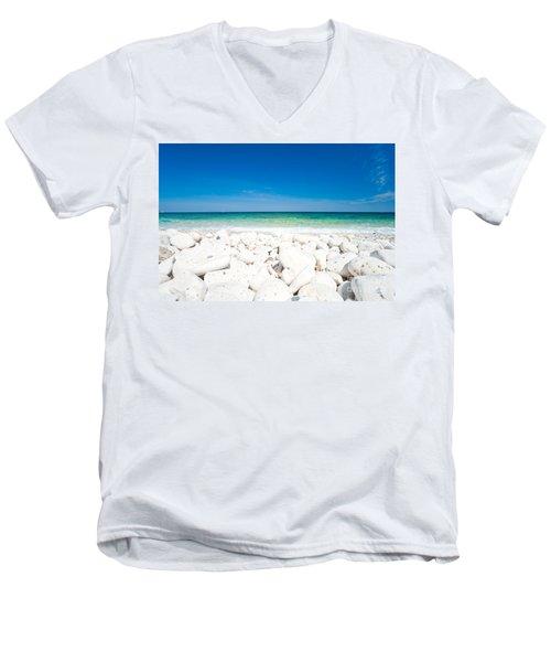 Elba - Capo Bianco  Men's V-Neck T-Shirt