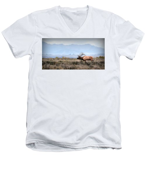 Elk Crossing Men's V-Neck T-Shirt