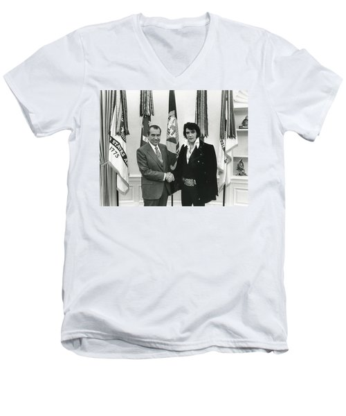 Elvis And Nixon Men's V-Neck T-Shirt