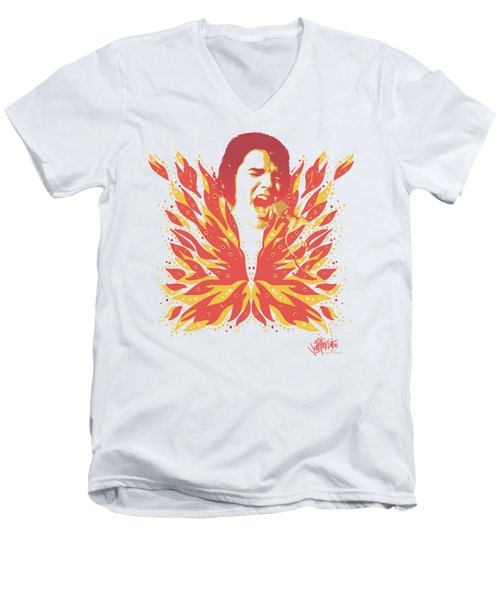 Elvis - His Latest Flame Men's V-Neck T-Shirt by Brand A