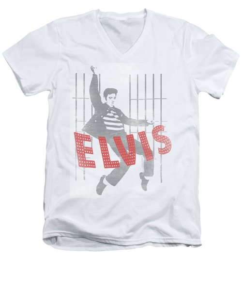 Elvis - Iconic Pose Men's V-Neck T-Shirt by Brand A