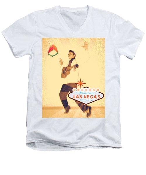 Elvis On Tv Men's V-Neck T-Shirt