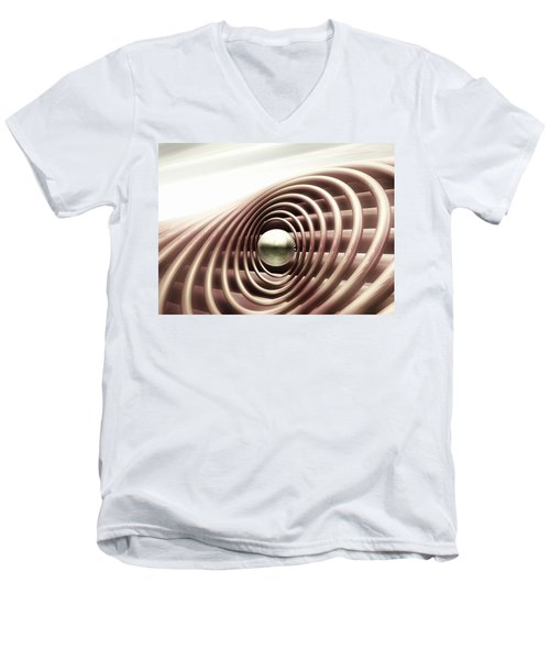 Men's V-Neck T-Shirt featuring the digital art Emanate by John Alexander
